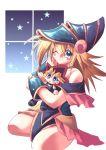 1girl character_doll chibi dark_magician_girl doll duel_monster mutou_yuugi solo yu-gi-oh! yuu-gi-ou_duel_monsters