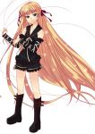 absurdly_long_hair boots evangeline_a_k_mcdowell gothic long_hair mahou_sensei_negima! vampire very_long_hair