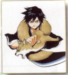 1girl arisawa_tatsuki black_hair bleach kubo_taito lowres official_art short_hair solo tomboy what_if