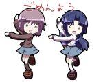 asakura_ryouko chibi duplicate fushigiboshi_no_futago_hime nagato_yuki parody school_uniform serafuku suzumiya_haruhi_no_yuuutsu tokyo_(great_akuta)