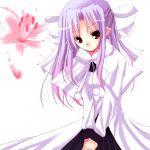 00s 1girl flower half_updo len lowres pointy_ears purple_hair red_eyes rikudou_inuhiko solo tsukihime white_len