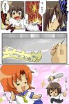2girls baseball_bat comic higurashi_no_naku_koro_ni maebara_keiichi multiple_girls oekaki ryuuguu_rena translation_request