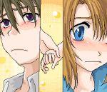 1boy 1girl couple hetero higurashi_no_naku_koro_ni lowres maebara_keiichi ryuuguu_rena