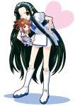 2girls asahina_mikuru boots child crossover fushigiboshi_no_futago_hime gotou_yuuko long_hair multiple_girls ojamajo_doremi seiyuu_connection senoo_aiko senoo_aiko_(cosplay) suzumiya_haruhi_no_yuuutsu tsuruya very_long_hair yuuma_(artist) yuuma_(skirthike)