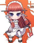atlus axe kei_jiei long_hair persona persona_3 redhead violet_eyes weapon yoshino_chidori