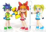 3girls akazutsumi_momoko figure goutokuji_miyako hyper_blossom lowres matsubara_kaoru multiple_girls photo powered_buttercup powerpuff_girls powerpuff_girls_z rolling_bubbles