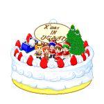 1boy 4girls blonde_hair cake christmas food furude_rika higurashi_no_naku_koro_ni houjou_satoko lowres maebara_keiichi multiple_girls pantyhose pastry ryuuguu_rena sonozaki_mion