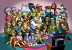 6+boys 6+girls abe_simpson annotated apu_nahasapeemapetilon barney_gumble bart_simpson clancy_wiggum doughnut edna_krabappel everyone food groundskeeper_willie homer_simpson krusty_the_clown lisa_simpson maggie_simpson marge_simpson milhouse_van_houten moe_szyslak montgomery_burns multiple_boys multiple_girls ned_flanders nelson_muntz nina_matsumoto otto_mann patti_bouvier selma_bouvier seymour_skinner sherri siblings television terri the_simpsons twins waylon_smithers yellow_skin
