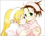 2girls artist_request blonde_hair genderswap genderswap_(mtf) multiple_girls naruko naruto nose_scar nurse scar umino_iruka