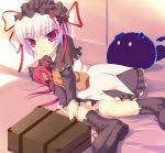 aq_interactive arcana_heart atlus blush boots doll dress examu gier lieselotte_achenbach safi short_hair suitcase