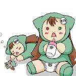00s bottle diaper heterochromia jissouseki no_humans rozen_maiden
