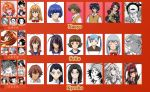 00s 6+boys 6+girls age_difference ahoge annotated antenna_hair bangs beanie black_hair blue_hair blunt_bangs bob_cut bow bowtie brown_hair character_chart chart child chouhi_ekitoku chouun_shiryuu close-up closed_eyes earrings everyone eyepatch face facial_hair gakushuu glasses goatee goei hair_bobbles hair_bow hair_ornament hair_over_one_eye hat headband ikkitousen japanese_clothes jewelry kakouen_myousai kakouton_genjou kaku_bunwa kan'u_unchou kimono kouchuu_kanshou lineup lolita_fashion long_hair magatama maid maid_headdress mole monochrome mother_and_daughter multiple_boys multiple_girls necktie official_art orange_hair ryomou_shimei ryuubi_gentoku saji_genpou scan school_uniform serafuku shibai_chuutatsu shiozaki_yuji shokatsuryou_koumei short_hair shuuyu_koukin shuyuu_koukin silver_hair single_earring sonsaku_goei sonsaku_hakufu sousou_moutoku sweater_vest ten'i_(ikkitousen) turtleneck twintails vest