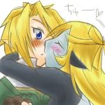 1boy 1girl blonde_hair blue_eyes blush couple kiss link long_hair lowres midna midna_(true) nintendo pointy_ears short_hair spoilers the_legend_of_zelda the_legend_of_zelda:_twilight_princess