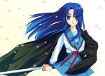 1girl asakura_ryouko fuyuichi school_uniform serafuku solo suzumiya_haruhi_no_yuuutsu sword weapon