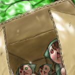 00s box brown_hair heterochromia jissouseki lowres no_humans outdoors rozen_maiden