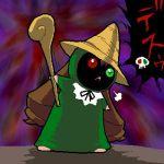 black_mage final_fantasy final_fantasy_ix jissouseki lowres no_humans parody rozen_maiden solo vivi_ornitier