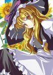 flower hat highres kazumasa kirisame_marisa touhou yellow_eyes
