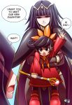 1boy 2girls ashley_(warioware) black_hair company_connection crossover english_commentary father_and_daughter fire_emblem fire_emblem:_kakusei fire_emblem_awakening hair_ornament intelligent_systems jadenkaiba mother_and_daughter multiple_girls my_unit_(fire_emblem:_kakusei) nintendo open_mouth reflet ribbon robin_(fire_emblem) robin_(fire_emblem)_(male) sarja skirt smile super_smash_bros. tharja twintails warioware what