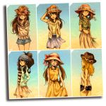 6+girls ;d adapted_costume arm_behind_back arm_up arms_behind_back baseball_cap black_shorts blonde_hair blouse blue_(pokemon) blue_shorts blue_skirt blush brown_eyes brown_hair character_name closed_mouth collarbone dress female gradient gradient_background hair_between_eyes hand_in_pocket hand_on_headwear haruka_(pokemon) hat head_tilt high_ponytail highres hikari_(pokemon) holding hood hooded_jacket jacket long_hair long_skirt looking_at_viewer matsuri_(matsuike) mei_(pokemon) multiple_girls one_eye_closed open_clothes open_jacket open_mouth photo_(object) plant pokemon pokemon_(game) pokemon_bw pokemon_bw2 pokemon_dppt pokemon_frlg pokemon_rse pokemon_xy profile puffy_short_sleeves puffy_sleeves serena_(pokemon) shirt short_sleeves shorts skirt skirt_hold sleeveless sleeveless_dress sleeveless_shirt smile striped striped_shirt sun_hat tied_shirt touko_(pokemon) twintails very_long_hair white_shirt wind
