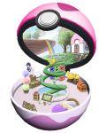 1girl bed black_hair book box dream_ball_(pokemon) floating_island house leaning_forward makomo_(pokemon) mallow_(mario) mario_(series) oshawott pikachu poke_ball pokemon pokemon_(game) pokemon_bw rainbow ruun_(abcdeffff) snivy super_mario_rpg tepig treasure_chest tree