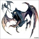 bat_ears bat_wings commentary_request drooling fangs flying glowing glowing_eyes golbat kei-suwabe legs no_humans open_mouth pokemon pokemon_(creature) slit_pupils spiked_wings spikes spread_wings talons tongue tongue_out twitter_username white_background wings zubat