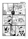 3girls :d aoba_(kantai_collection) armpits bikini camera comic crying crying_with_eyes_open greyscale hand_behind_head hands_clasped headgear holding kantai_collection long_hair mask mizuno_(okn66) monochrome multiple_girls nagato_(kantai_collection) navel open_mouth photo_(object) polaroid ponytail pose ryuujou_(kantai_collection) school_uniform serafuku smile squatting sweat swimsuit tears translation_request trembling troll_face twintails ultra_series ultra_seven ultra_seven_(series)