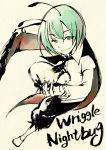 androgynous antennae cape character_name green_eyes green_hair reverse_trap short_hair shou_shishi smile solo touhou wriggle_nightbug