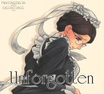 1girl brown_hair dated emma emma_(victorian_romance_emma) english glasses hogeyama maid parted_lips solo sweat victorian_romance_emma