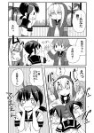 3girls comic fubuki_(kantai_collection) greyscale highres kantai_collection kisaragi_(kantai_collection) monochrome multiple_girls mutsuki_(kantai_collection) remodel_(kantai_collection) sanpatisiki shinkaisei-kan spoilers