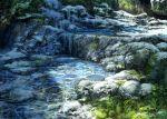 day grass landscape no_humans original outdoors pippi_(pixiv_1922055) river scenery