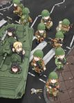 6+girls aiming ak-74 aks-74u aqua_hair assault_rifle blonde_hair blue_eyes bmp-1 brown_eyes doll dragunov_svd dutchko field_radio green_hair grenade_launcher gun helmet military military_uniform military_vehicle multiple_girls open_mouth original pointing ponytail rabbit red_eyes redhead rifle road rocket_launcher rpg rpg-7 rubble russian scope sniper_rifle soviet street tank_helmet trigger_discipline underbarrel_grenade_launcher uniform weapon yellow_eyes