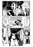 6+girls alternate_costume bonnet breasts choufu_shimin cleavage comic corset detached_sleeves dress glasses goblet greyscale hat headgear isolated_island_hime jet_ski jewelry kantai_collection kirishima_(kantai_collection) kongou_(kantai_collection) long_hair monochrome multiple_girls necklace pirates_of_the_caribbean shinkaisei-kan sweat tricorne