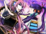 foreshortening gomoku hands kamui_gakupo long_hair megurine_luka pink_hair pointing purple_hair vocaloid