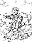 crossover esaka hinanawi_tenshi hug king_of_fighters m.u.g.e.n monochrome mukai_(king_of_fighters) mukai_(kof) touhou