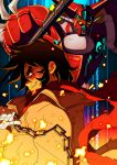 chain chains getter_robo male mecha nagare_ryoma red_scarf scarf shin_getter-1 super_robot trench_coat trenchcoat