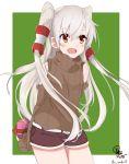 amatsukaze_(kantai_collection) blush brown_eyes kantai_collection long_hair personification seifuku shy white_hair