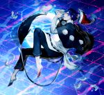 1boy animal_ears doremy_sweet fuuga_(perv_rsity) genderswap hat moon nightcap no_shoes pom_pom_(clothes) tail touhou water