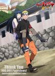 1boy 1girl absurdres black_hair blonde_hair blue_eyes blush couple dannex009 facial_mark forehead_protector grin hetero highres hyuuga_hinata lavender_eyes long_hair naruto naruto:_the_last piggyback pointing pregnancy_test short_hair smile uzumaki_naruto watermark web_address