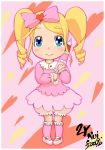 blonde_hair bloomers blue_eyes child harime_nui heart heart_background kill_la_kill moe parasol toddler umbrella underwear younger