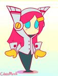 1girl animated animated_gif blush_stickers cilvia_mirell dancing hair_ornament hairclip kirby:_planet_robobot kirby_(series) long_hair pink_hair solo susie_(kirby)