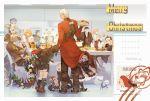 5girls 6+boys animalization archer armor banquet black_santa_costume blonde_hair cake cape christmas cu_chulainn_(fate)_(all) cu_chulainn_(fate/grand_order) cu_chulainn_alter_(fate/grand_order) dated dual_persona emiya_alter ereshkigal_(fate/grand_order) fate/extra fate/stay_night fate_(series) food fou_(fate/grand_order) fujimaru_ritsuka_(female) gawain_(fate/extra) guttia hat hiding hood hood_down jack_the_ripper_(fate/apocrypha) james_moriarty_(fate/grand_order) juggling lancer mini_cu-chan multiple_boys multiple_girls multiple_persona nursery_rhyme_(fate/extra) olga_marie_animusphere pie pig postcard postcard_(medium) romani_archaman santa_costume santa_hat sherlock_holmes_(fate/grand_order) tail white_hair