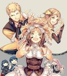 3boys 5girls ;) asymmetrical_clothes azur_(fire_emblem) bare_shoulders birthmark blonde_hair blue_eyes blue_hair braid brother_and_sister brown_gloves cape chibi circlet eudes_(fire_emblem) family father_and_daughter fire_emblem fire_emblem:_kakusei fire_emblem_if gloves grandmother_and_granddaughter green_eyes grey_hair hands_on_own_cheeks hands_on_own_face krom liz_(fire_emblem) long_hair lucina mother_and_son multiple_boys multiple_girls olivia_(fire_emblem) one_eye_closed ophelia_(fire_emblem_if) orange_yanagi pauldrons pink_hair pose siblings smile soleil_(fire_emblem_if) twintails
