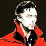 1boy black_hair doctor_strange ilya_kuvshinov marvel solo upper_body