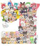 6+girls :3 :d ;d animal_ears armor asian_golden_cat_(kemono_friends) bactrian_camel_(kemono_friends) bangs beret binturong_(kemono_friends) black_hair black_panther_(kemono_friends) blonde_hair blunt_bangs bobcat_(kemono_friends) brown_long-eared_bat_(kemono_friends) bun_cover byakko_(kemono_friends) camel_ears camel_tail caracal_(kemono_friends) caracal_ears caracal_tail cat_(kemono_friends) cat_ears cat_tail cerulean_(kemono_friends) chinchilla_(kemono_friends) clouded_leopard_(kemono_friends) cougar_(kemono_friends) crested_ibis_(kemono_friends) double_bun dromedary_(kemono_friends) eurasian_lynx_(kemono_friends) fennec_(kemono_friends) flat-headed_cat_(kemono_friends) flying fossa_(kemono_friends) fox_ears fraternal_myotis_(kemono_friends) geoffroy's_cat_(kemono_friends) giant_armadillo_(kemono_friends) giant_pangolin_(kemono_friends) glasses hat head_wings highres hilgendorf's_tube-nose_bat_(kemono_friends) hipparion_(kemono_friends) honduran_white_bat_(kemono_friends) horns iriomote_cat_(kemono_friends) jaguarundi_(kemono_friends) japari_bus jungle_cat_(kemono_friends) kemono_friends kyuubi_(kemono_friends) leopard_(kemono_friends) long_hair looking_at_viewer low-tied_long_hair low_twintails marbled_cat_(kemono_friends) margay_(kemono_friends) mask mask_on_head meerkat_(kemono_friends) multicolored multicolored_hair multicolored_skin multiple_girls ocelot_(kemono_friends) oinari-sama_(kemono_friends) one_eye_closed open_mouth panther_ears park_guide peach_panther_(kemono_friends) pink_fairy_armadillo_(kemono_friends) pink_hair raccoon_(kemono_friends) raccoon_ears rhinoceros_ears safari_hat sand_cat_(kemono_friends) serval_(kemono_friends) serval_ears serval_tail short_hair silver_fox_(kemono_friends) skyfish_(kemono_friends) smile smug snow_leopard_(kemono_friends) suzaku_(kemono_friends) tail tatu_nw tengu_mask thomson's_gazelle_(kemono_friends) twintails twitter_username vampire_bat_(kemono_friends) vehicle white_hair white_rhinoceros_(kemono_friends) wings