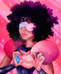 garnet_(steven_universe) heart heart_hands highres maru_(marugraphic) ruby_(steven_universe) sapphire_(steven_universe) steven_universe traditional_media watercolor_(medium)