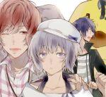 akito_shukuri heishi_otomaru norn9 purple_hair shiranui_nanami tkhs_(artist) violet_eyes