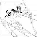 1girl alternate_costume arrow bow cinder_fall jumping mask neichiru rwby sneaking_suit solo