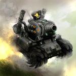 driving dust_cloud explosion ground_vehicle hiro1984 metal_slug military military_vehicle motor_vehicle no_humans sv001_(metal_slug) tank tank_focus