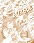 1boy 2girls belt cape coat duel_monster elemental_hero_bubbleman eria highres hiita mask multiple_girls tahira_ureka yu-gi-oh!