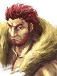 1boy beard facial_hair fate/stay_night fate/zero fate_(series) male red_eyes red_hair redhead rider_(fate/zero) satomi solo